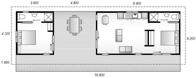 Cabinsbydesign sizes sleepout cabin bach auckland nz for Bach floor plans